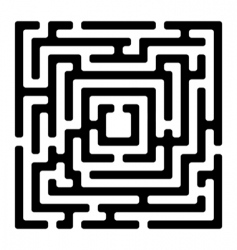 rectangle maze izolated on white vector image