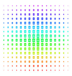 recycle bin icon halftone spectral pattern vector image