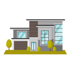 residential building cartoon vector image