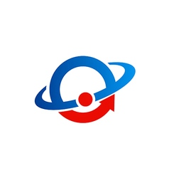 Round orbit science logo vector