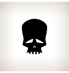 Sad Skull on a Light Background vector image