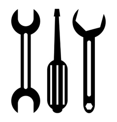 Screwdriver and wrench icon simple style vector