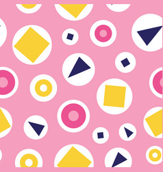 seamless pattern fun bubbles on a pink vector image