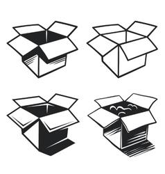 set box icons vector image