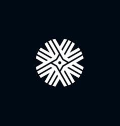Shuriken ornamental logo concept template vector