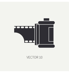Silhouette icon with film for retro analog vector image