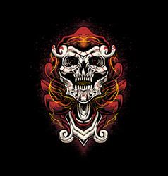 skull red head vector image