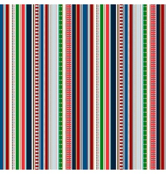 Stripes Seamless pattern Christmas winter colors vector image