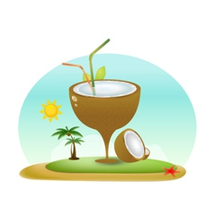 Summer Coconut vector image