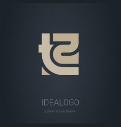 T2 - logotype design element or icon monogram t vector