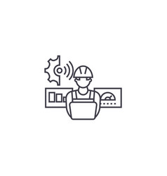 Technician control line icon sign vector