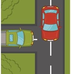 transport service design vector image