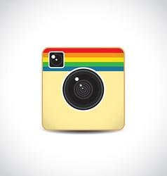 Trendy camera icon vector image