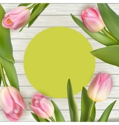 Tulips with frame EPS 10 vector image