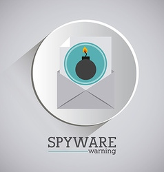 Virus and security system design vector