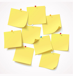 yellow sticker pinned pushbutton vector image