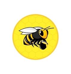 Bee honeycomb icon vector image