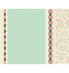 Blue card with floral pattern vector image vector image