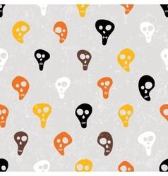 Halloween print with skulls funny skulls vector image vector image