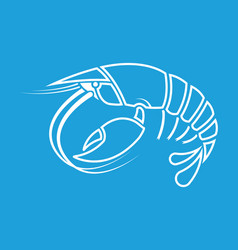 lobster crayfish cancer crayfish outline shape vector image vector image