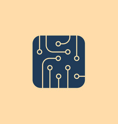 pictograph of circuit board vector image