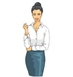 Portrait of beautiful Asian woman vector image
