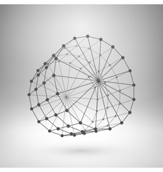 Wireframe mesh polygonal cylinder vector image vector image