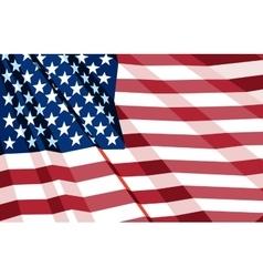 Crumpled US Flag vector image
