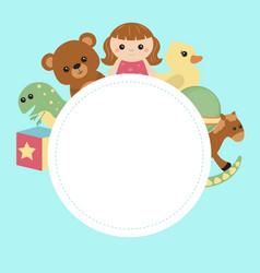 kids banner design vector image
