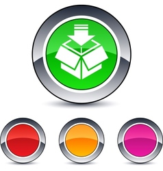 package round button vector image vector image