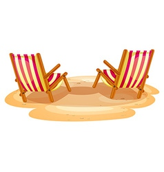 Two beach chairs vector image