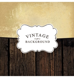 vintage background template vector image vector image