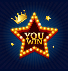 winner success achievement concept vector image vector image