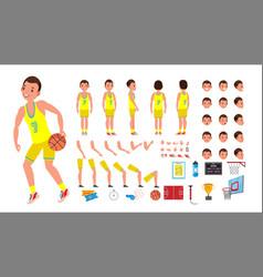 basketball player male animated character vector image