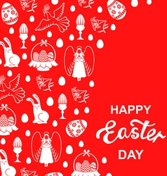easter angel card red vector image vector image