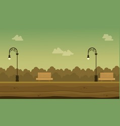 flat of garden scenery background vector image vector image