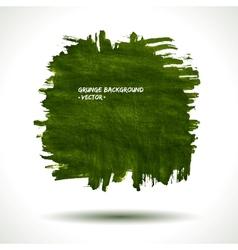 GREEN GRUNGE SHAPE vector image vector image