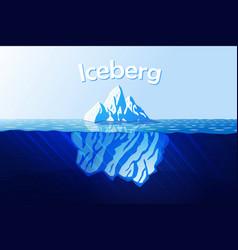 iceberg in ocean vector image