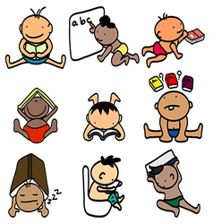 kids learning vector image vector image
