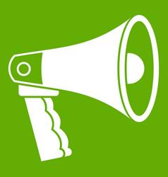 loudspeaker icon green vector image vector image