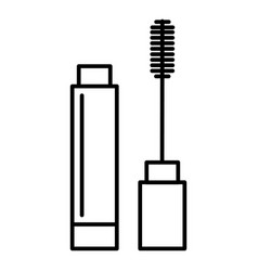 mascara line icon sign on vector image
