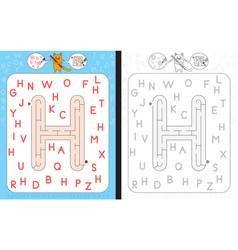 Maze letter h vector