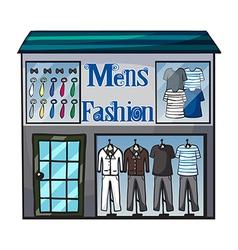 Mens fashion short vector image vector image