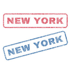 new york textile stamps vector image vector image
