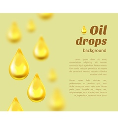 Oil drops background with place for text vector image vector image