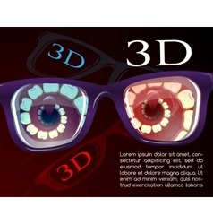 Presentation of 3d cinema vector image vector image