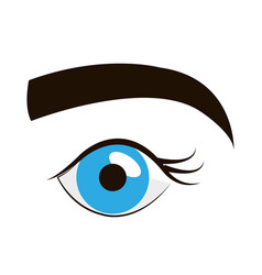 sexy female eye icon vector image