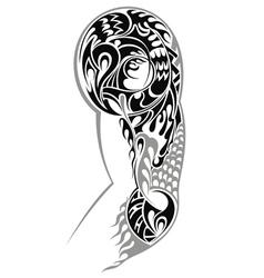 Tribal Arm Tattoo vector image