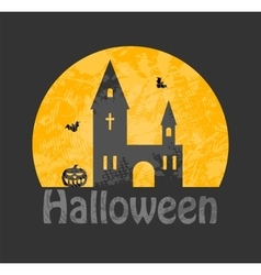 cemetery haunted house vector image
