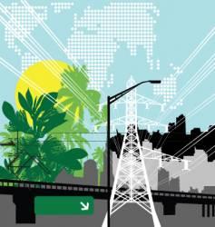 jungle city vector image vector image